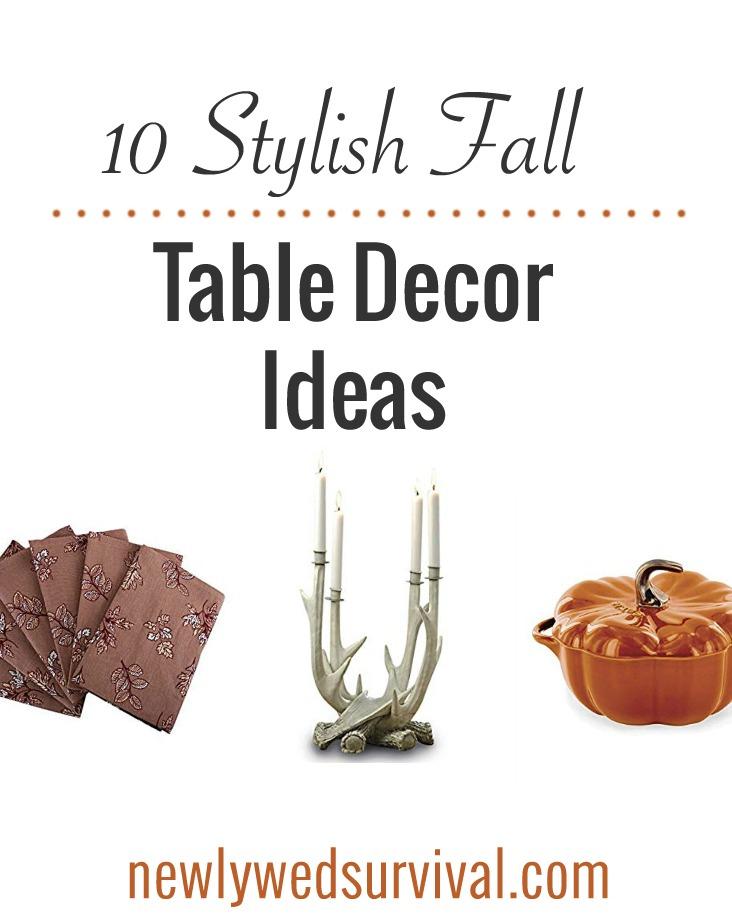 10 Stylish Fall Table Decor Ideas