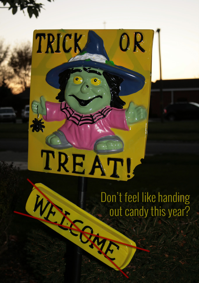 What to Do When You Don't Want to Answer the Door for Trick-or-Treaters