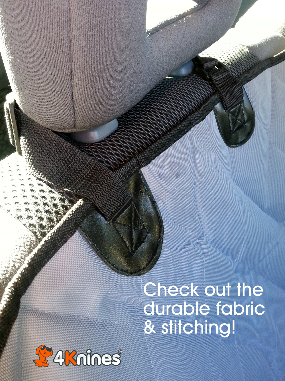 Rear dog seat cover from 4Knines #SeatCovers4Knines #ad