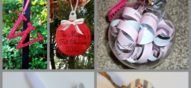 DIY Christmas Ornaments for the Newlywed Tree