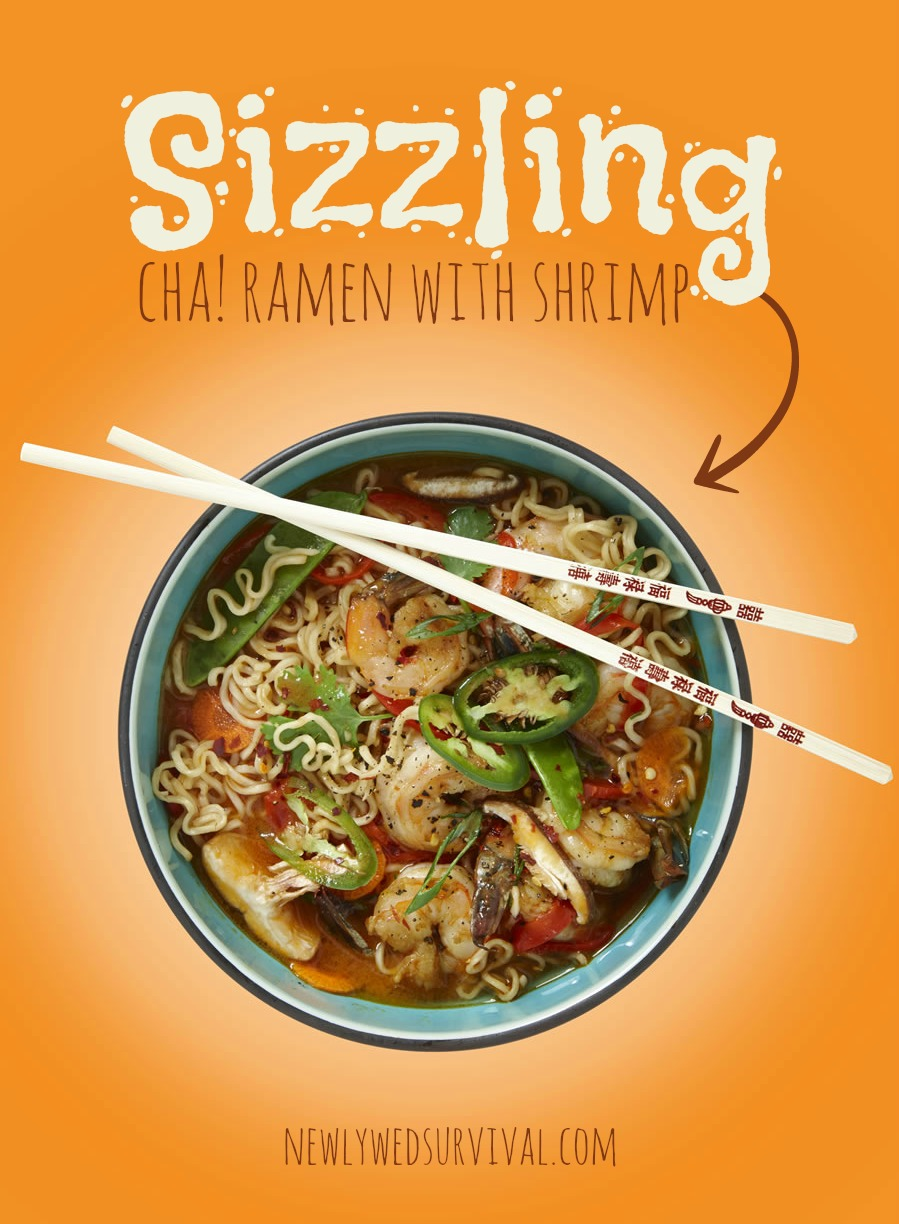 Sizzling CHA! Ramen with Shrimp #TexasPete #ad