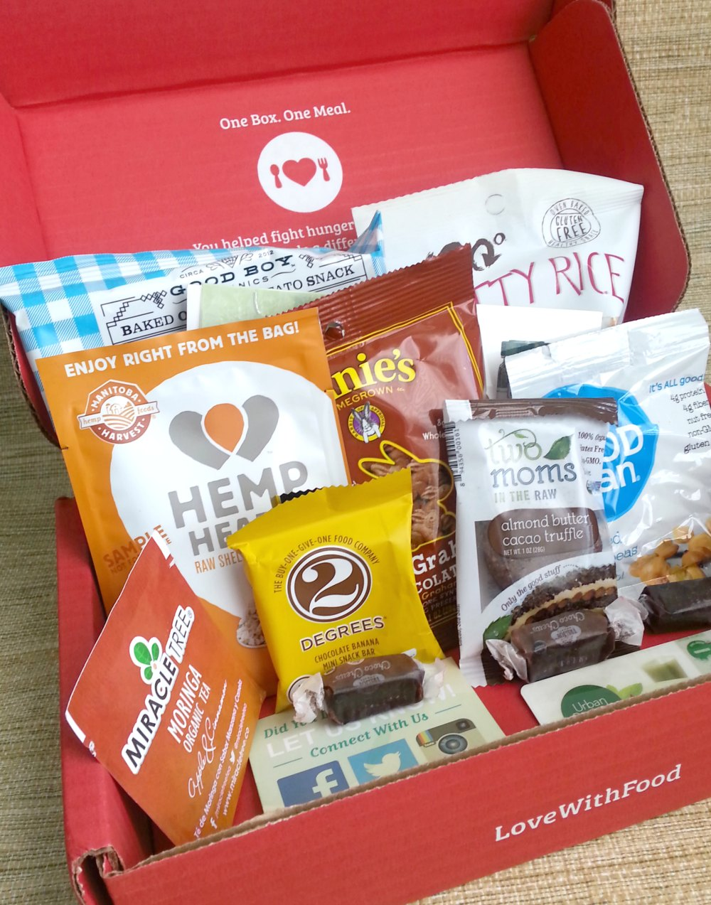 The #LoveWithFood subscription box. Snacks with a purpose! #ad @lovewithfood