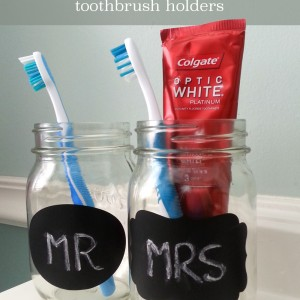 mr and mrs mason jar toothbrush holders