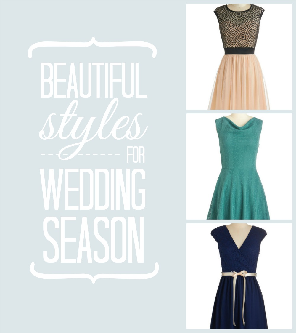 Beautiful Styles for Wedding Season #marriedinmodcloth