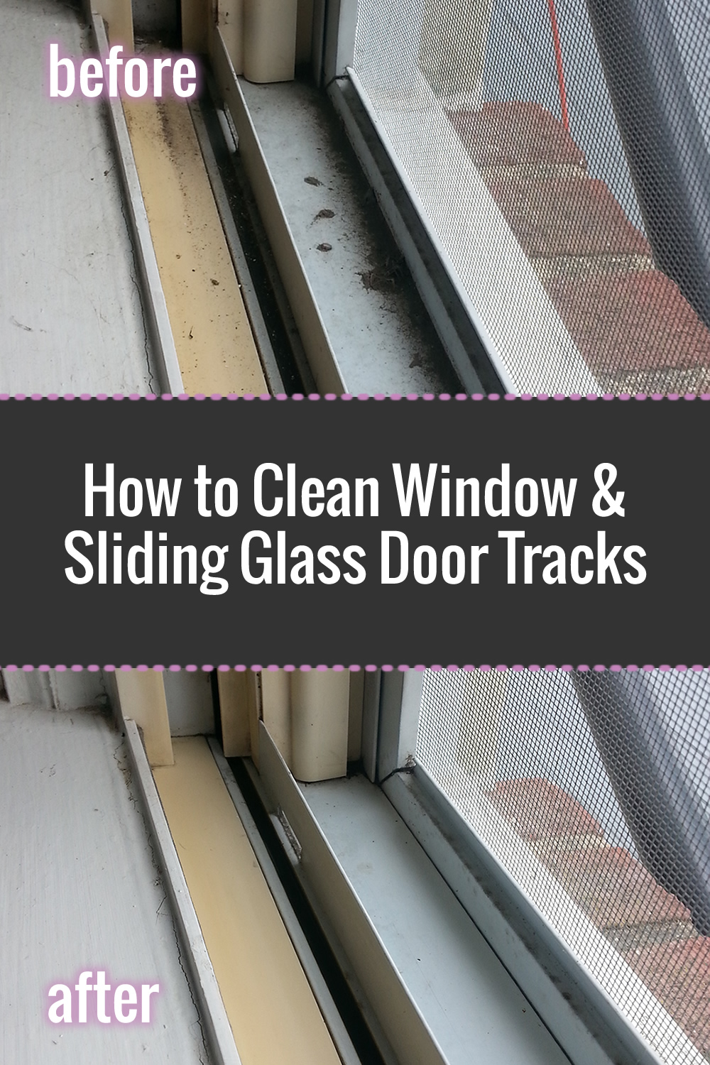 How to clean window tracks: Easy step-by-step process with photos