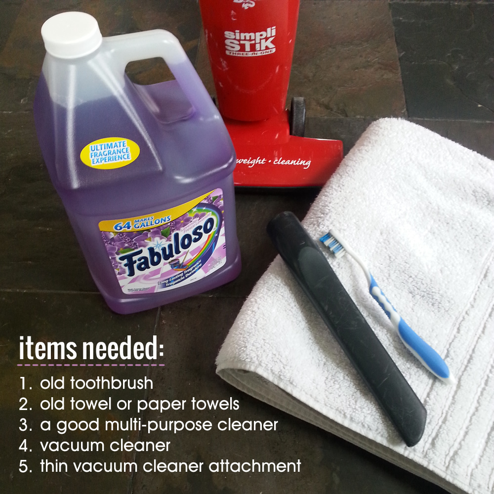 Items needed to clean window tracks #MiFabuloso #ad