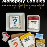 Monopoly cookies for game night!