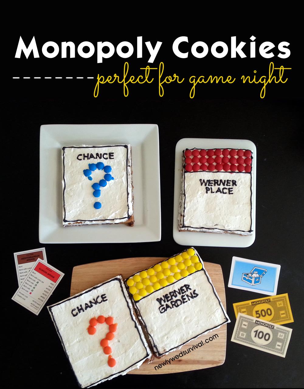 Monopoly property cookies for #GameNightIn #ad #cbias