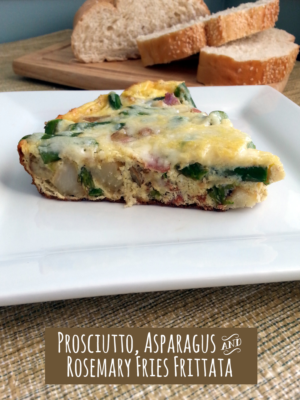 Brunch Recipe: Prosciutto, Asparagus and Rosemary Fries Frittata #SpringIntoFlavor #ad #cbias