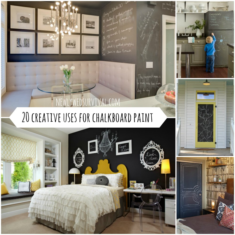 20 Creative uses for chalkboard paint #DIY