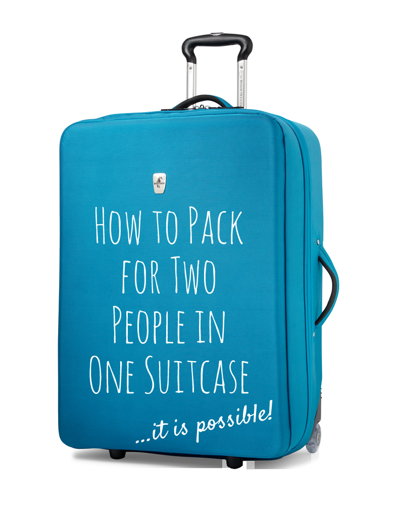 How to pack for two in one suitcase... it is possible! #AtlanticLuggage