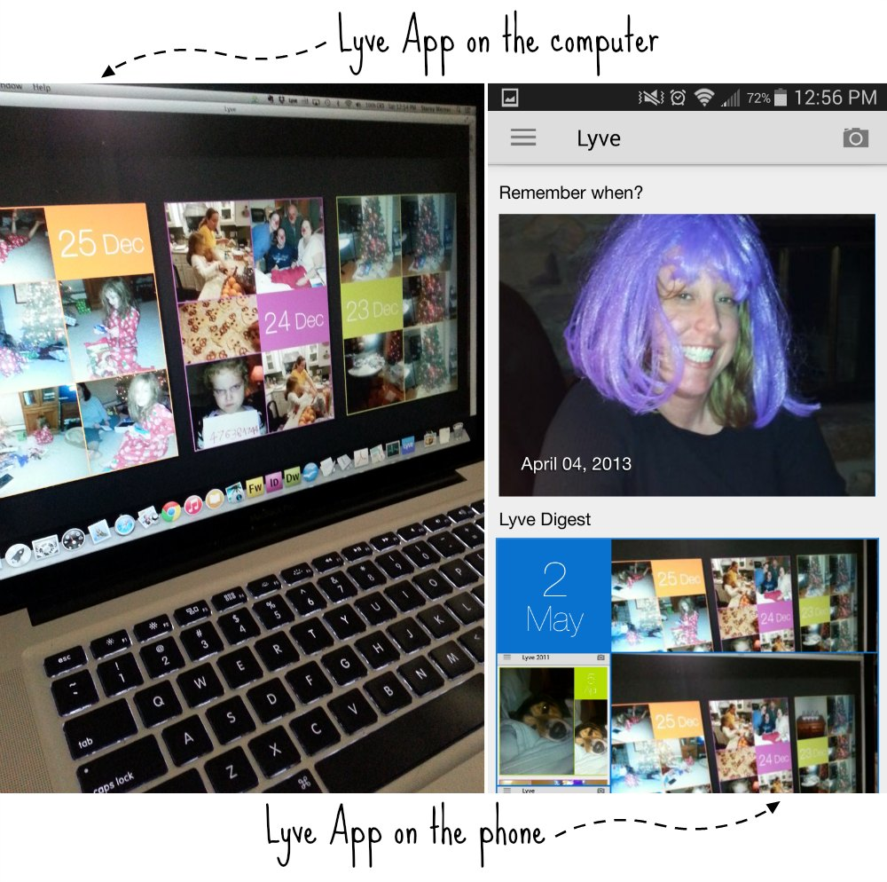 Lyve has apps for your computer and your phone! #MemoryLane #ad