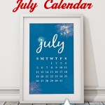 Free Printable July Calendar + Smartphone Backgrounds