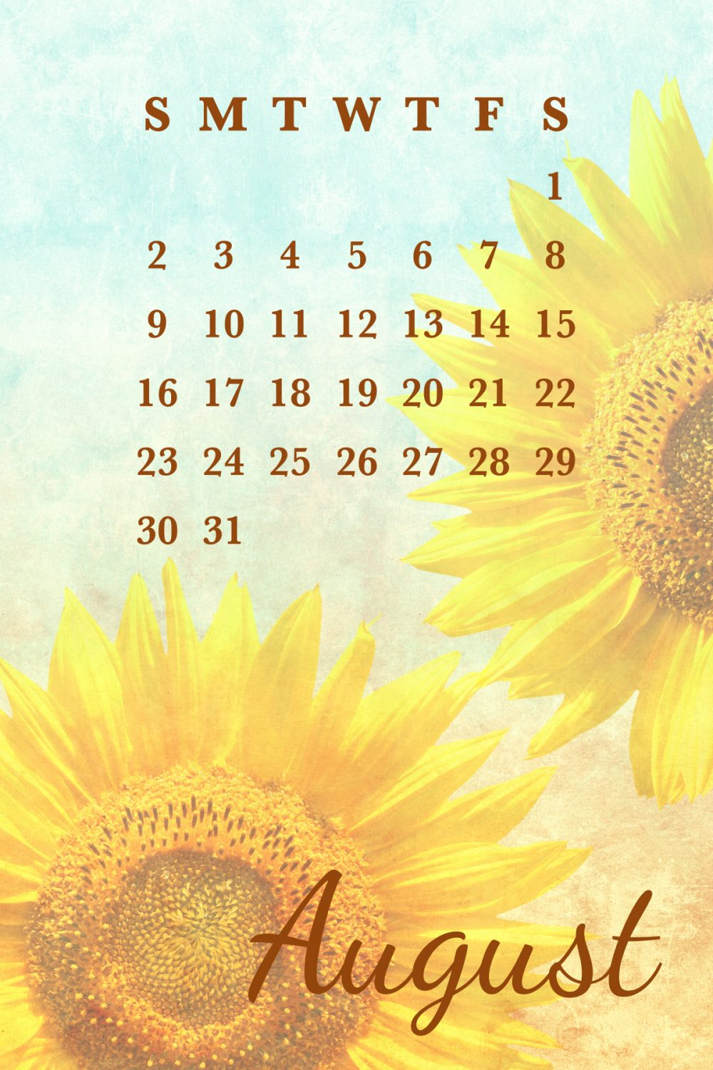 August 2015 free calendar printable and smartphone backgrounds