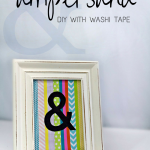 DIY Ampersand Art Washi Tape