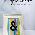 DIY Ampersand Art Washi Tape