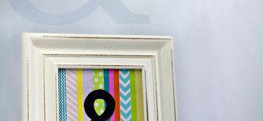 Easy DIY Ampersand Art Using Washi Tape
