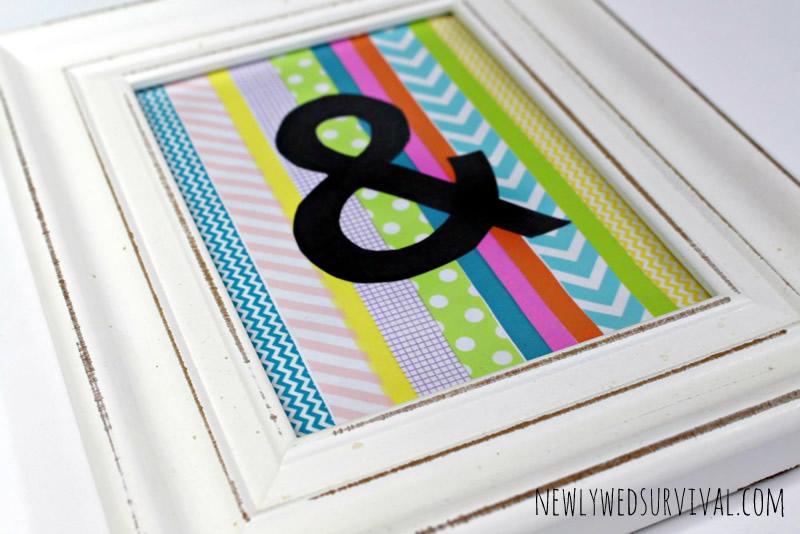 DIY Ampersand Art Using Washi Tape (closeup)