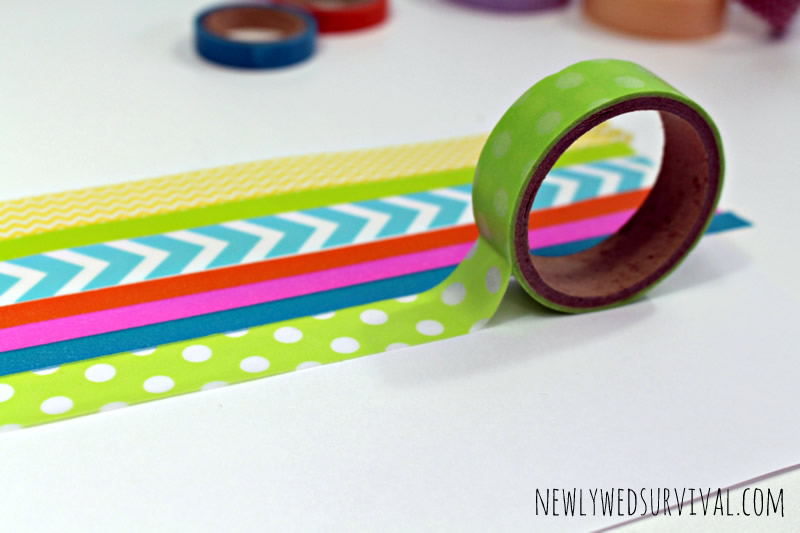 DIY Ampersand Art Using Washi Tape (in progress)