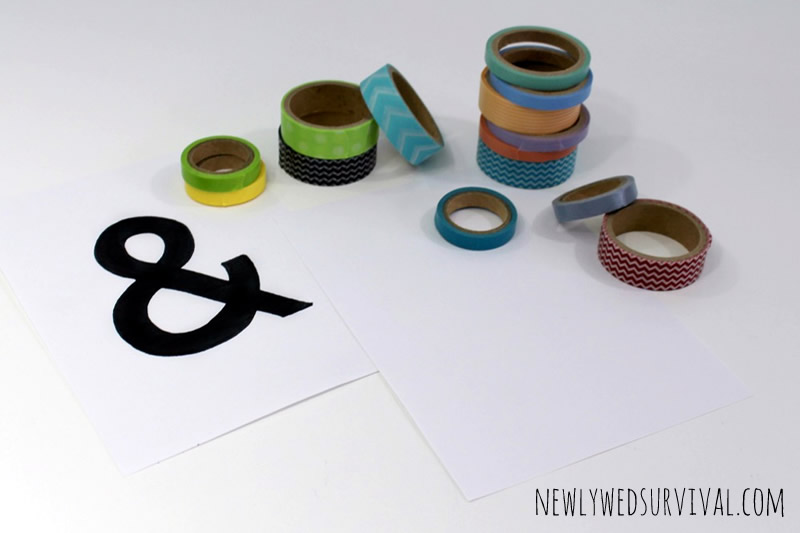 DIY Ampersand Art Washi Tape - project supplies