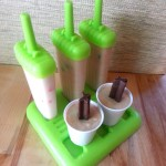 Put ice pop stick in center and put in freezer