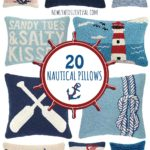 Feel like you are near the ocean year-round with one of these nautical throw pillows.