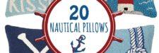 20 Nautical Throw Pillows
