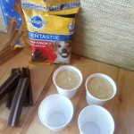 Pour mixture into cups