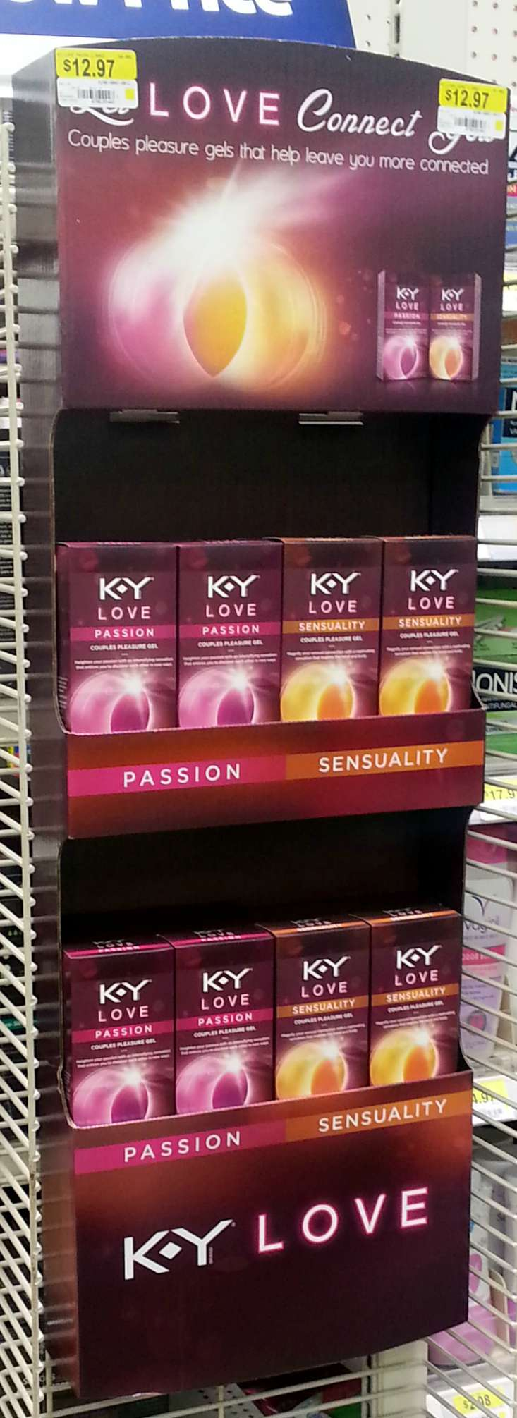 K-Y Love display in Walmart #KYTrySomethingNew #cbias