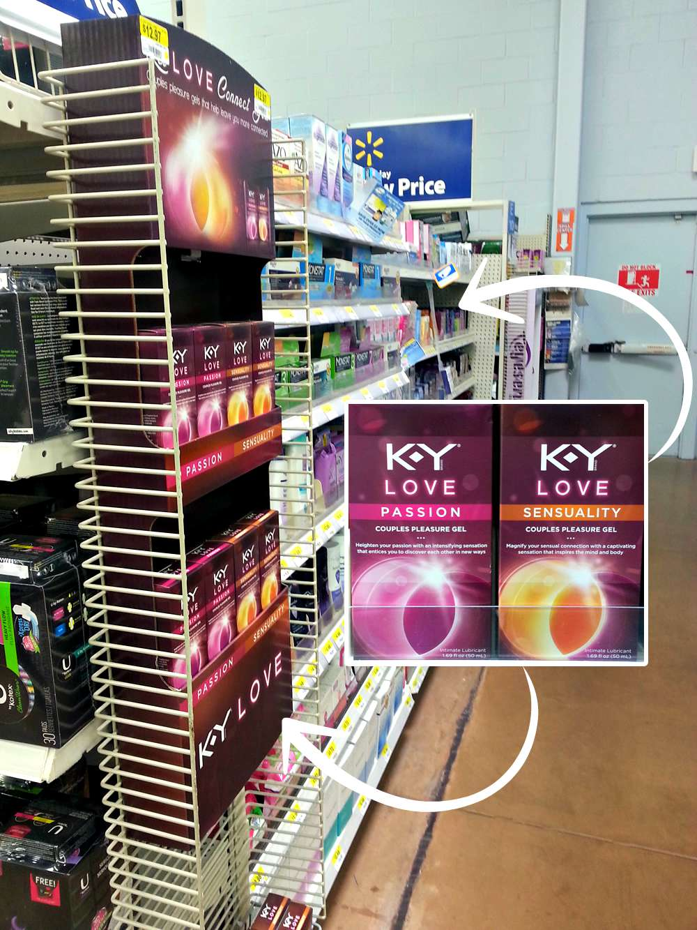K-Y Love Passion & Sensuality in aisle at Walmart #KYTrySomethingNew #cbias