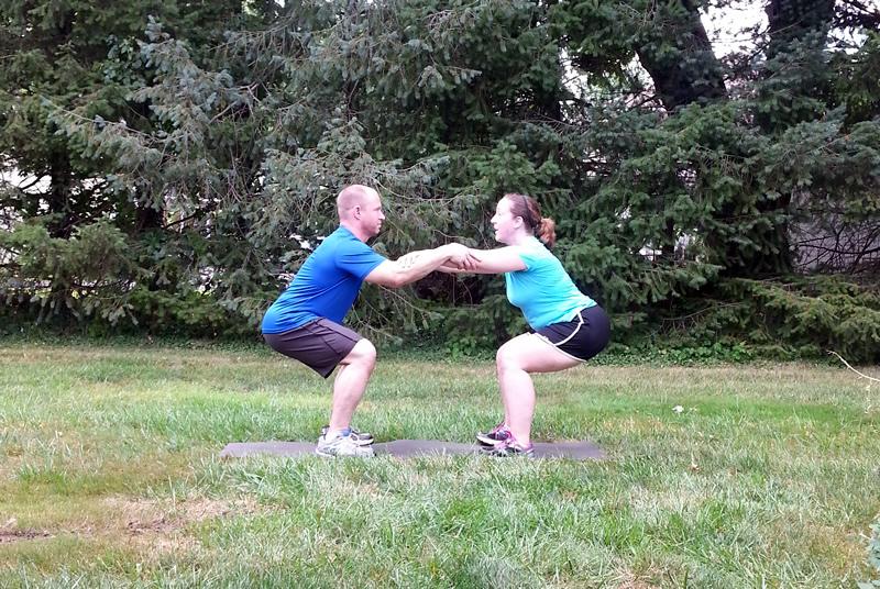 Squats partner exercise #PowerInProtein #CollectiveBias @Walmart
