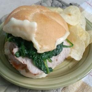 Easy Dinner: Garlic & Herb Pork Sandwich