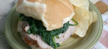 Easy Dinner: Garlic & Herb Pork Sandwich
