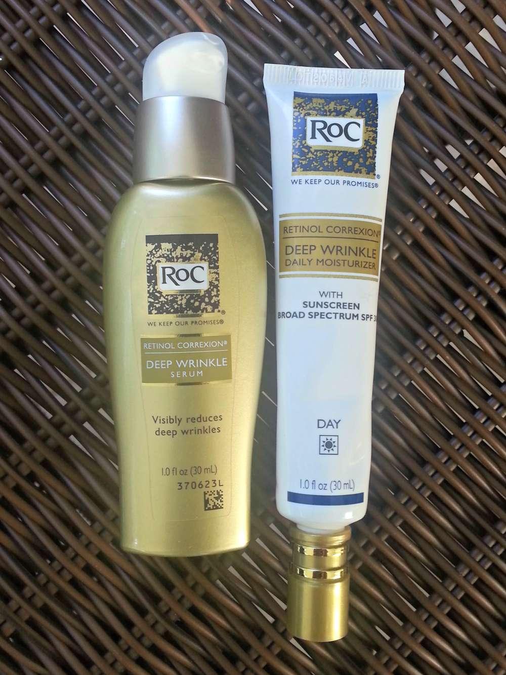 Retinol Correxion Deep Wrinkle Serum and Daily Moisturizer #RocWrinkleRanking #IC