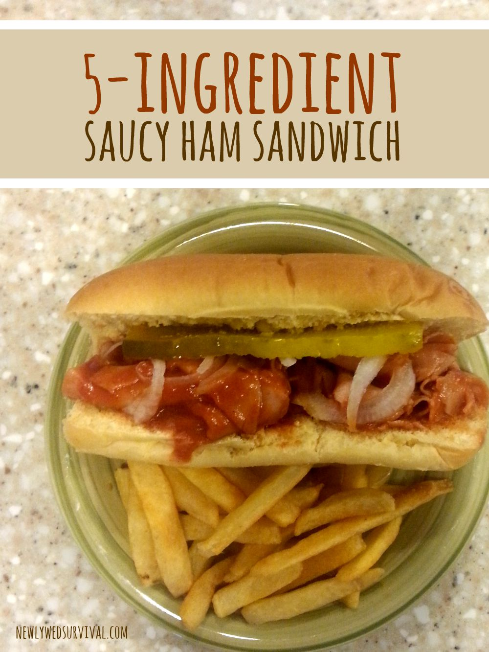 Saucy ham sandwich only 5 ingredients needed #manwichmonday