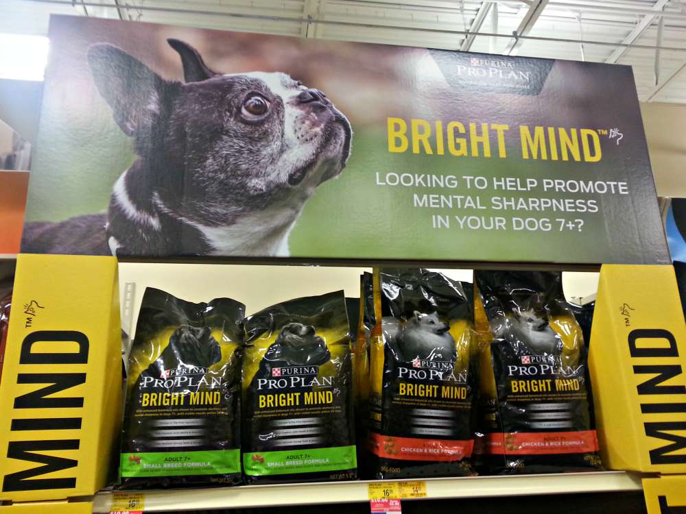 The Purina Pro Plan Bright Minds dog food section at PetSmart #BrightMinds #CollectiveBias