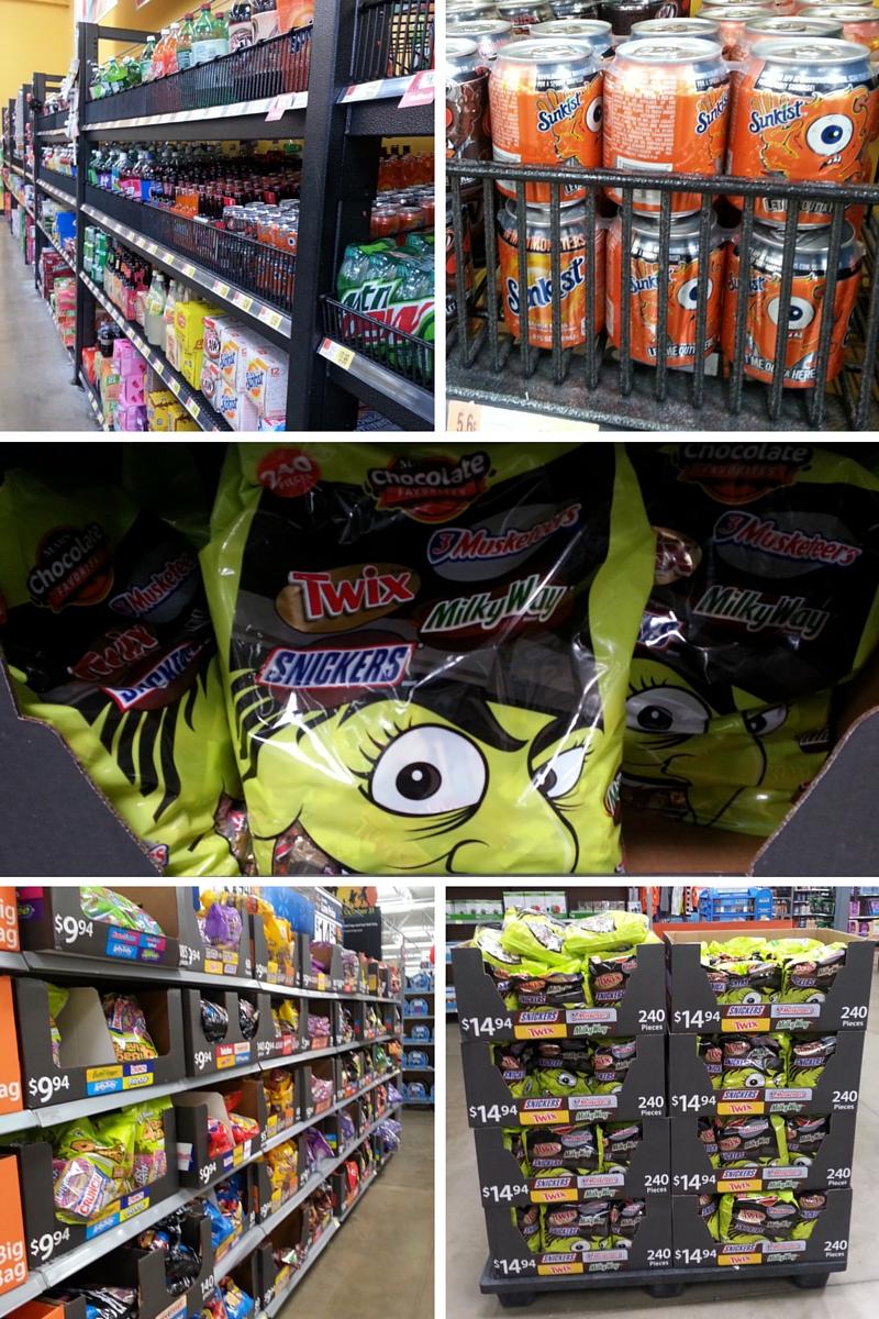 Mars Halloween candy and Soda at Walmart #BOOItForward