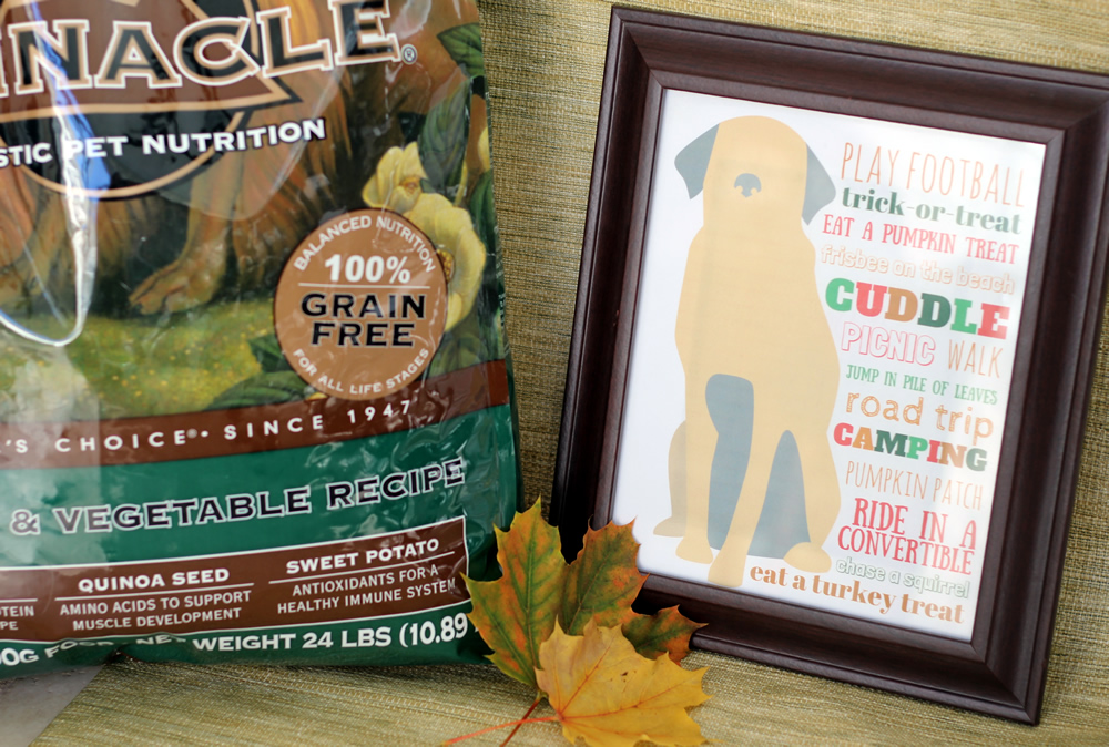 FREE printable fall bucket list for your dog #PinnacleHealthyPets