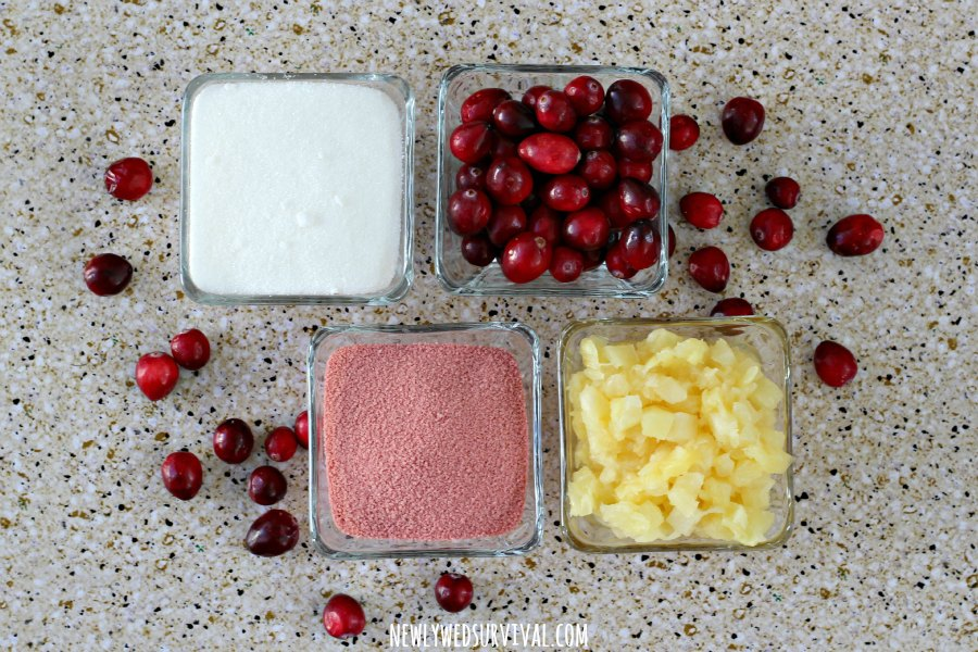 Cranberry gelatin mold ingredients