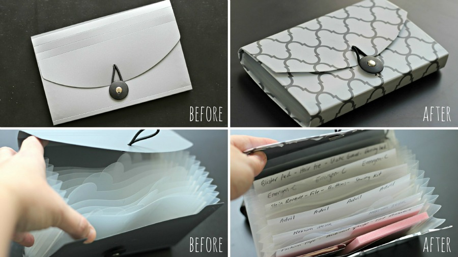 DIY project - coupon organizer to purse organizer