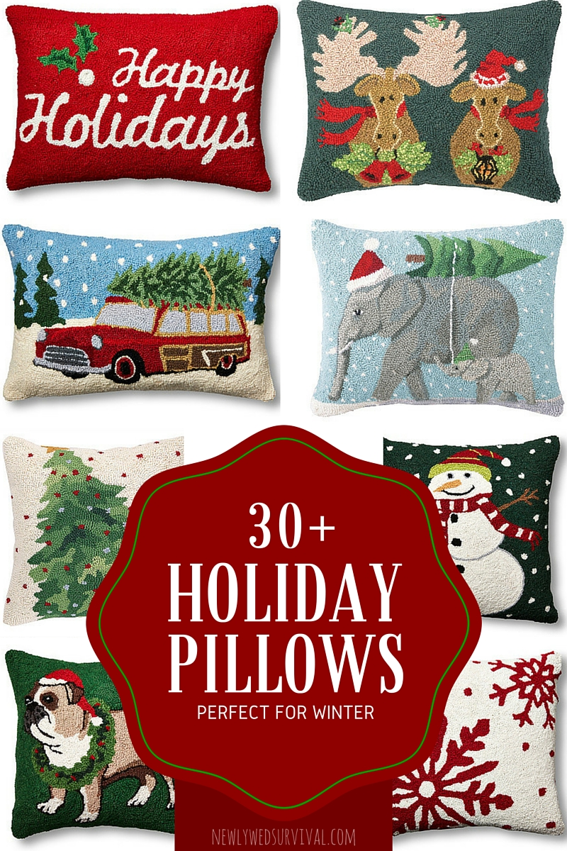 Holiday throw pillows perfect for winter