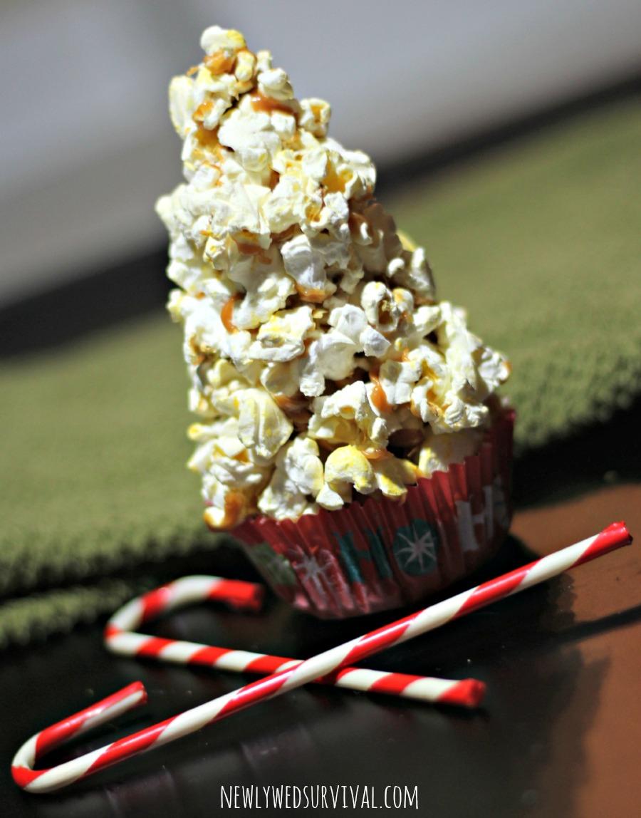 Popcorn Christmas Tree #SmarterTreats