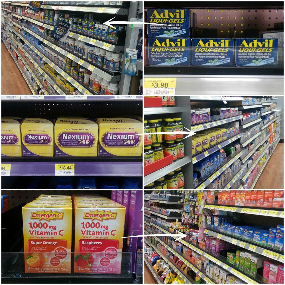 Medicine cabinet products at walmart #BeHealthyForEveryPartofLife