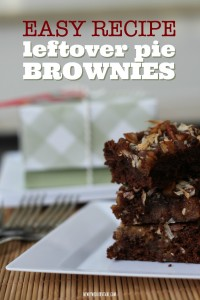 Easy recipe for leftover pie brownies #ShareTheJoyOfPie