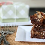 Leftover pecan pie brownies and gift box #ShareTheJoyOfPie