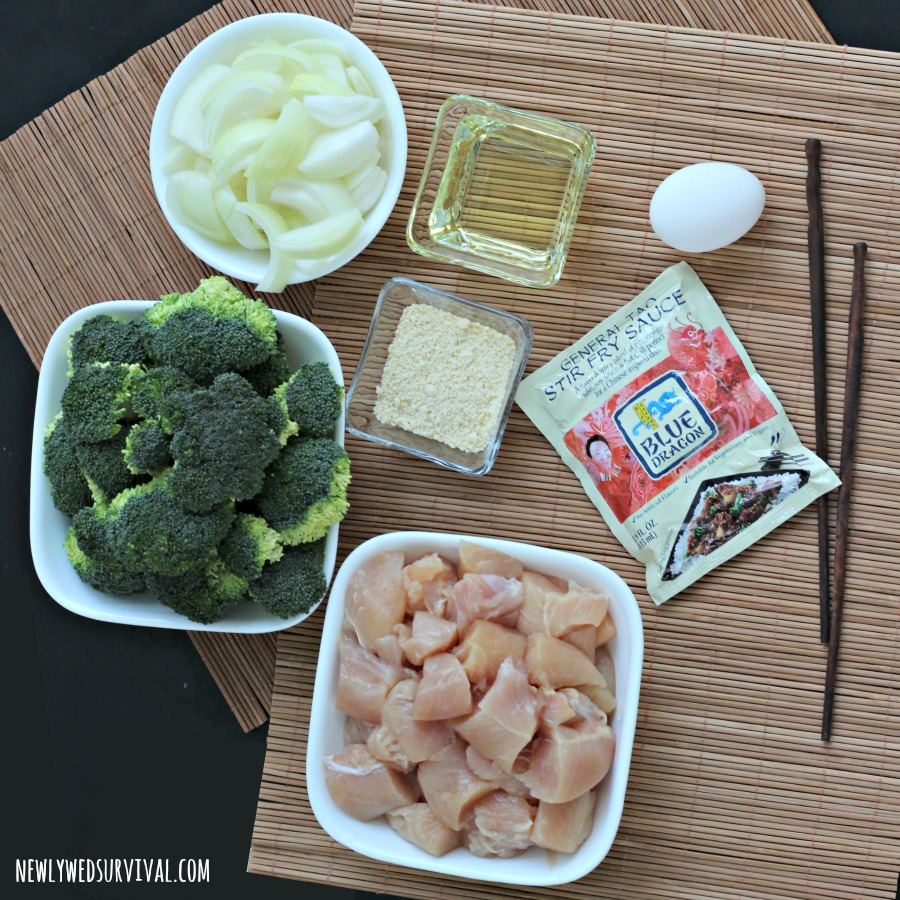 Easy General Tso's Chicken recipe at home ingredients #EastMadeEasy