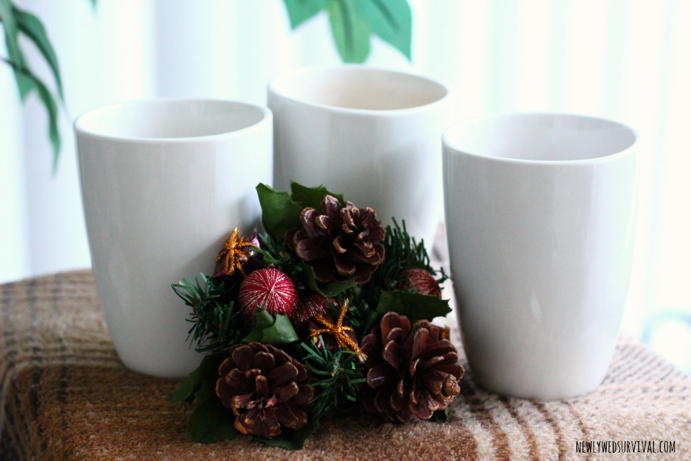 Mugs for hot chocolate bar