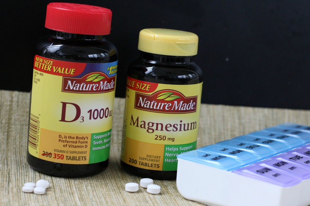 Nature Made D3 and Magnesium for bone health #NatureMade