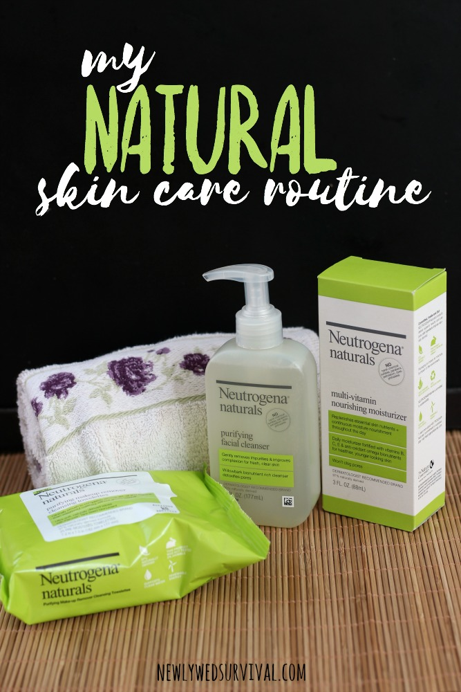 My natural skin care routine for my face #NeutrogenaNaturals