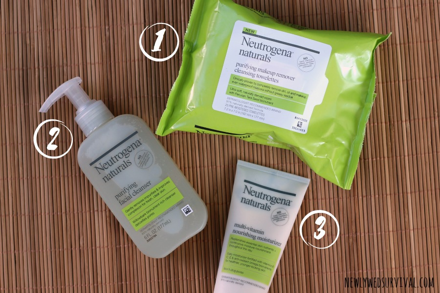 Natural skin care routine is as easy as 1, 2, 3! #NeutrogenaNaturals